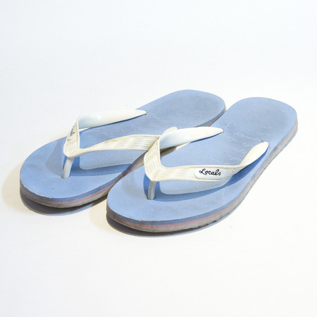 d20ce75fb7f70d Logo Pattern Beach Sandals (Aqua×White)