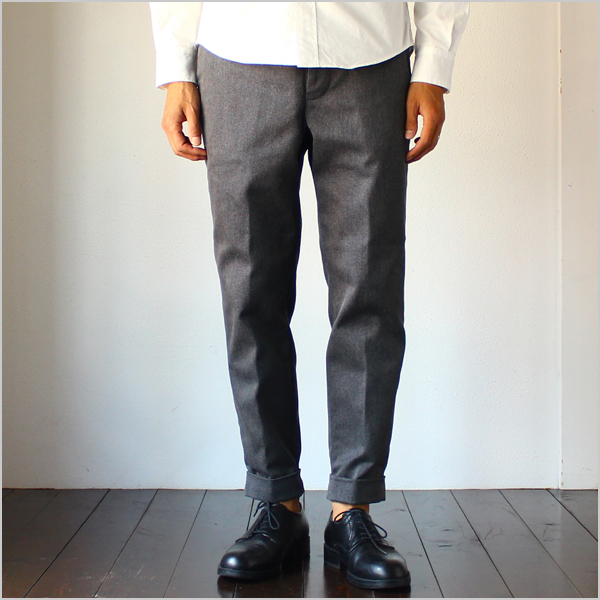 Tapered Cropped Trousers -T/C Antique Westpoint- - Bricklayer *A vontade アボンタージ直営店