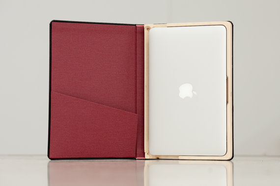 The Cartella for MacBook Air Moleskine Case13 inch by PadandQuill
