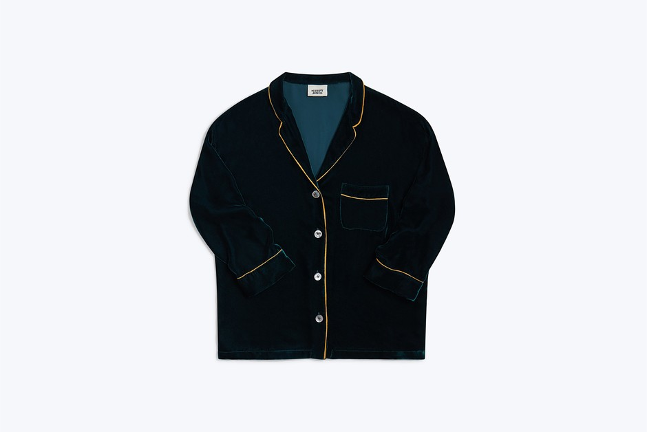 Marina AtLeisure Shirt Pine Velvet - Women's Tops | Sleepy Jones