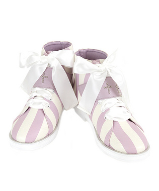 Candy Stripper ONLINE SHOP | STUNNING STRIPE LEATHR SHOES | LAVENDER×WHITE