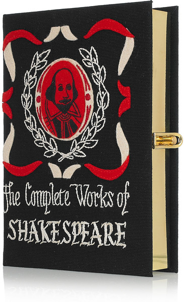 Olympia Le-tan The Complete Works Of Shakespeare Embroidered Clutch in Black (red)   Lyst