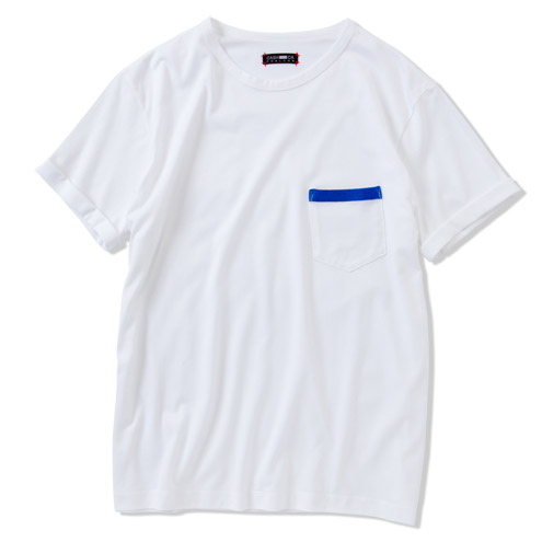 CASH CA / PIPING POCKET TEE[WHITE] - Heather Grey Wall ONLINE store