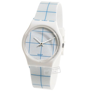 Swatch Graph Paper - Watch - GZ198 | Squiggly Swatch Watches and Straps