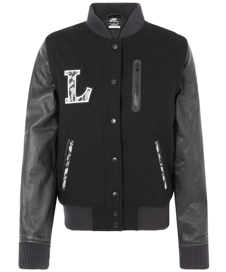 Black NSW Destroyer Jacket, Nike x Liberty. Shop more sportswear from the Nike x Liberty collection online at Liberty.co.uk