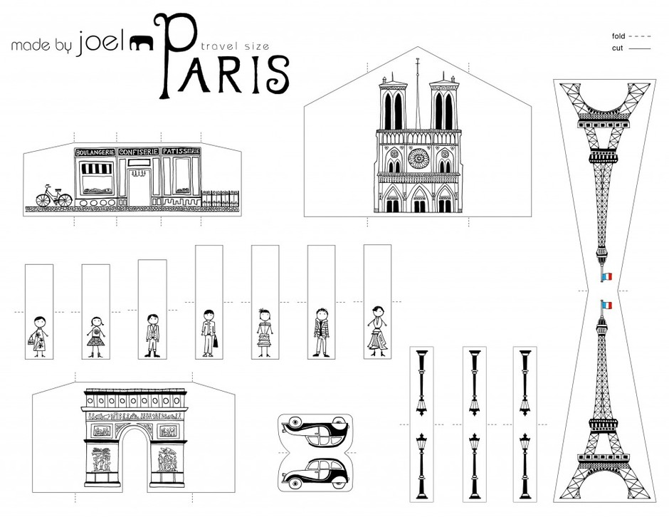 Travel Size Paper City Paris! | Made by Joel