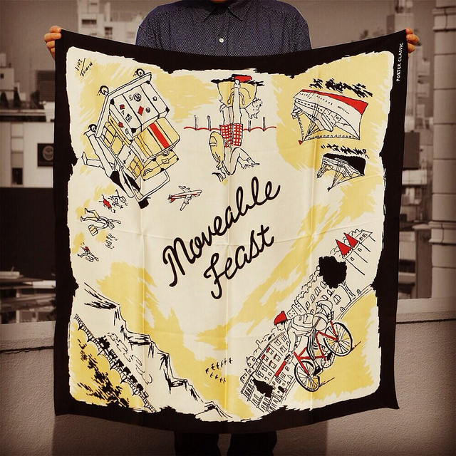 "SILK SCARF ""Moveable Feast"" 