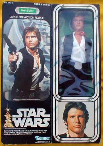 Han Solo Large Size Action Figure - Star Wars Collectors Archive