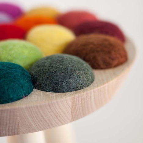 Cool with Wool Stool by Aud Julie Befring