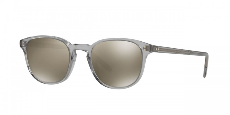 Oliver Peoples   Fairmont Workman Grey with Grey Goldtone Sunglasses by Oliver Peoples