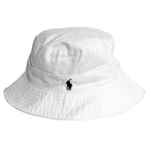 Rakuten.com - Polo Ralph Lauren White Cotton Bucket Hat in Small