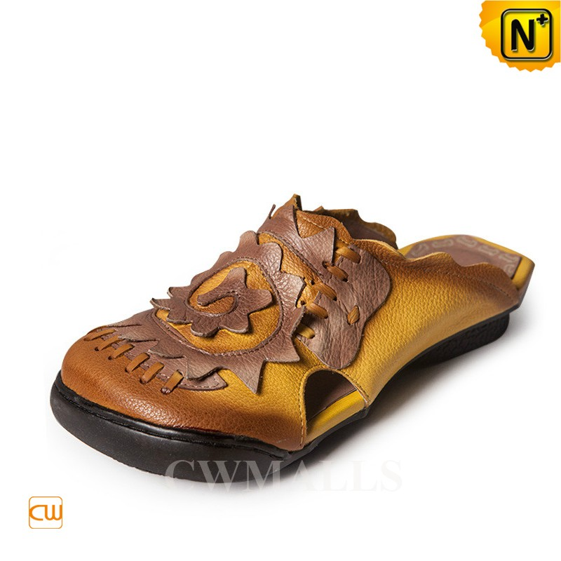 Womens Leather Wedge Sandals CW306209