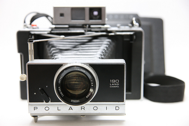 0130 Polaroid 190 with Tominon 114mm f3.8 lens Instant Film Land Camera | Flickr - Photo Sharing!