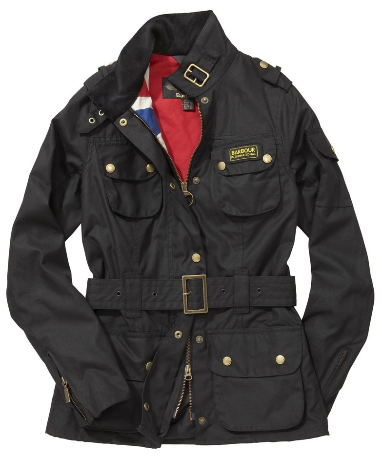 Womens Barbour Union Jack International Waxed Jacket - Barbour By Mail Online Store