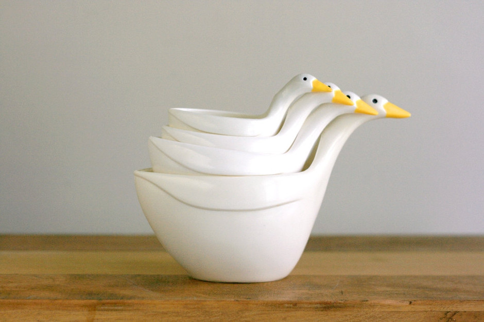 Vintage Geese Measuring Cups by WiseApple on Etsy