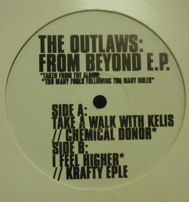 OUTLAWS / FROM BEYONDE E.P. WHITE 12inch Vinyl record 中古レコード通販