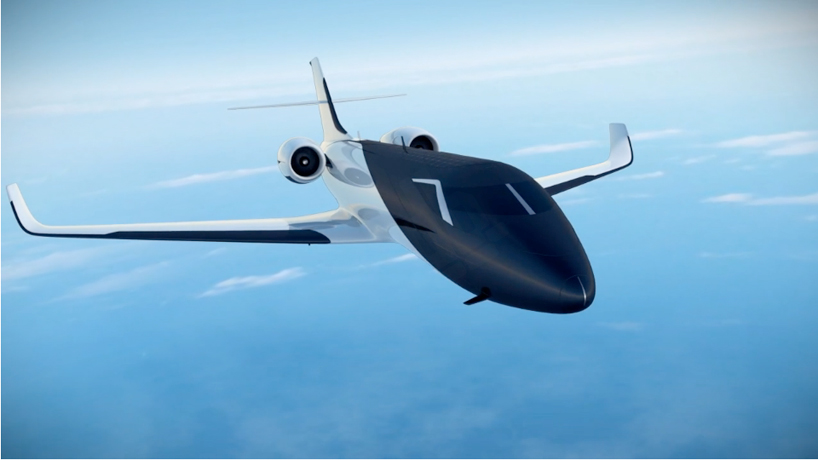 IXION windowless jet features solar panels and offers panoramic views