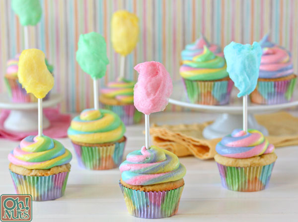 Cotton Candy Cupcakes | Oh Nuts Blog