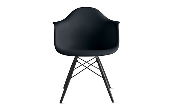Eames® Molded Plastic Dowel-Leg Armchair (DAW) - Design Within Reach