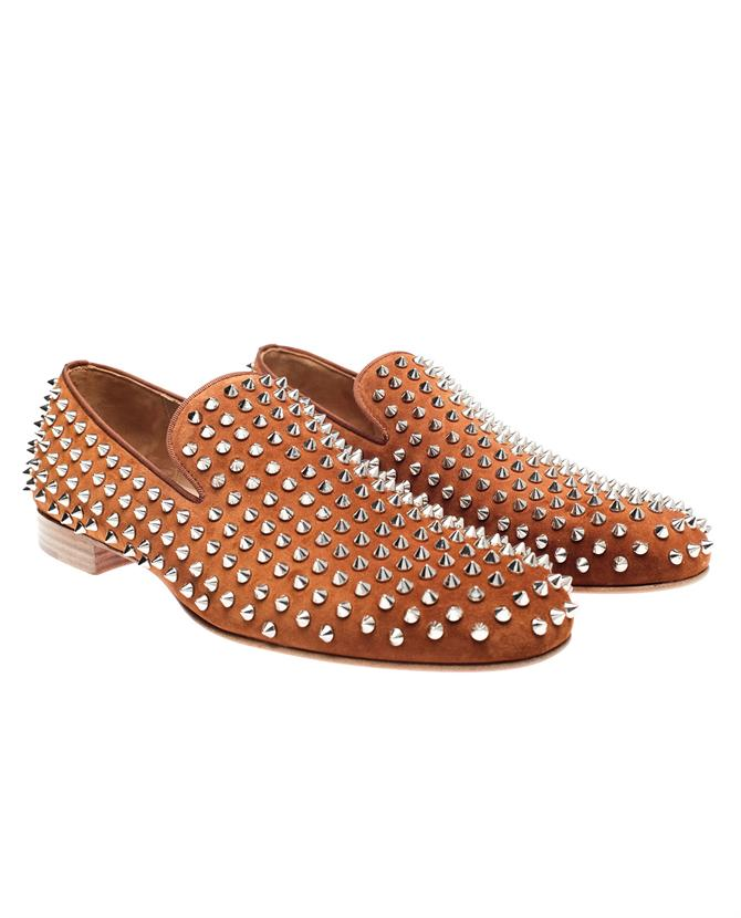 Browns fashion & designer clothes & clothing | CHRISTIAN LOUBOUTIN | 'Rollerboy' spiked suede loafers