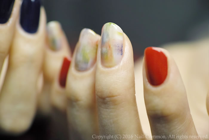 NAIL-COMMON: [赤と青]melted contemporary nail