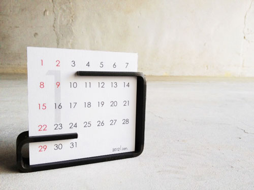 Desk top Calendar 2012 - 黒皮鉄プロダクト -aizara- on line shop