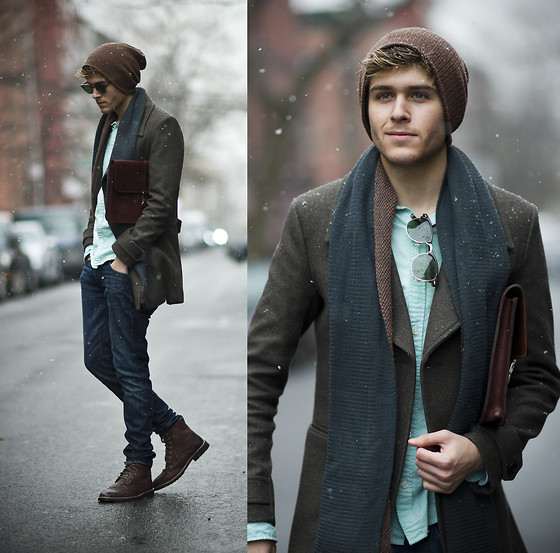 Fashops Coat, Holdall&Co Satchel, Similar Here > Mint Shirt | St. Patricks Snow (VOTE ME TO COACHELLA!) (by Adam Gallagher) | LOOKBOOK.nu