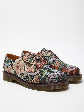 Dr Martens Men's Floral Print 1461 3-Eye Shoe at セレクトショップ oki-ni