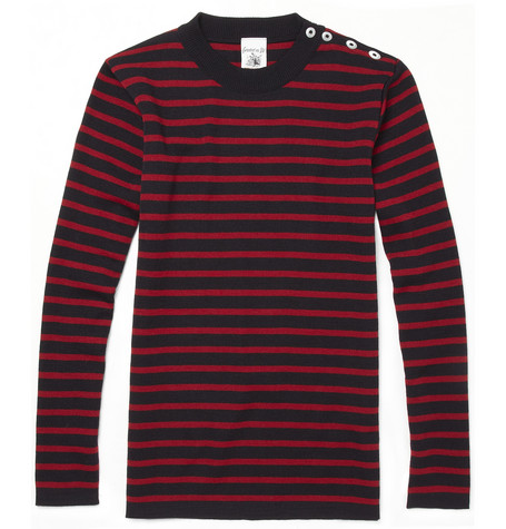 S.N.S. HerningNaval Striped Wool Hand-Knitted Sweater|MR PORTER