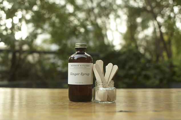 HAND MADE GINGER SYRUP, 8 OZ BOTTLE :: HICKOREE'S HARD GOODS