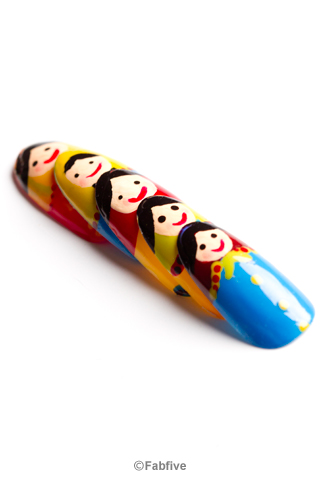Matryoshka Nail Tips by Nevertoomuchglitter - Fabfive ファブファイブ