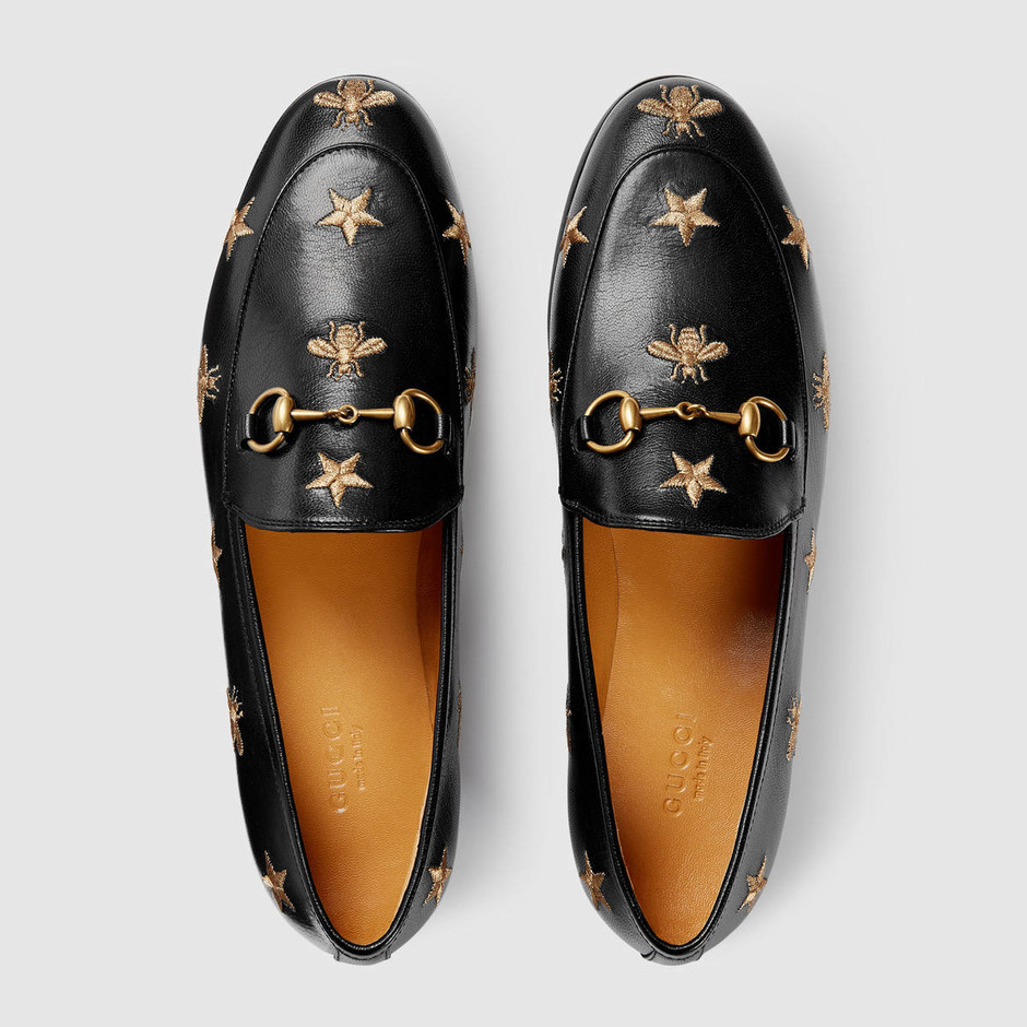 Gucci Jordaan embroidered leather loafer - Gucci Women's Moccasins & Loafers 505281D3V001000