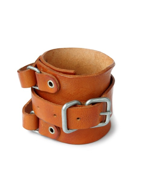 LOVE online store|MEN  Leather Wrist Strap (camel)
