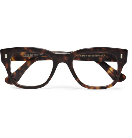 Cutler and Gross Tortoiseshell Semi-Square Optical Glasses | MR PORTER