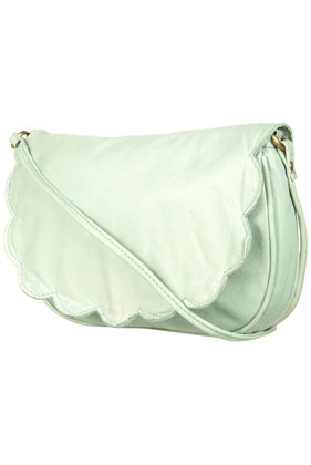 Leather Scallop Cross Body Bag - Bags & Purses - Accessories - Topshop