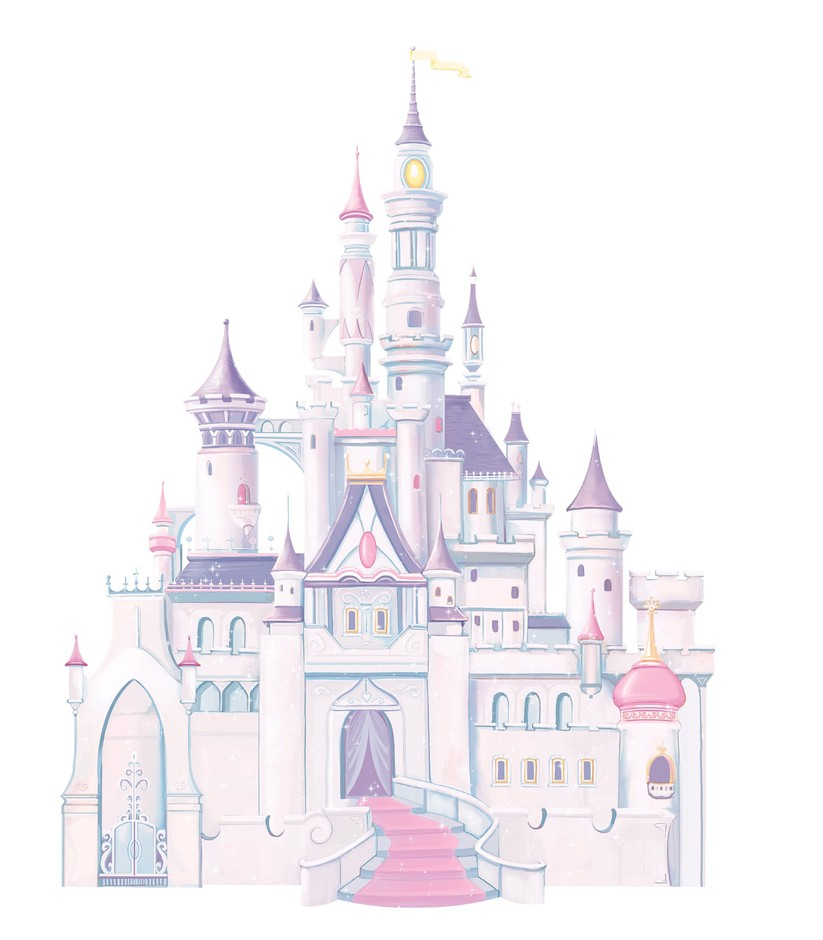 Amazon.com: RoomMates RMK1546GM Disney Princess Glitter Castle Peel & Stick Giant Wall Decal: Home Improvement