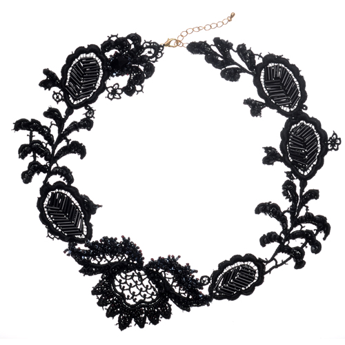 Black lace necklace by Emma Cassi (handmade lace jewellery) – Emma Cassi