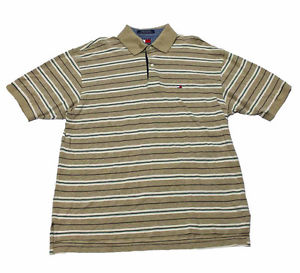 Tommy Hilfiger Striped Polo Shirt Mens Clothing Size Large | eBay