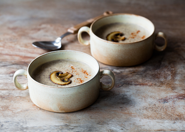 a Palate and a Passport - mushroom and cream cheese soup