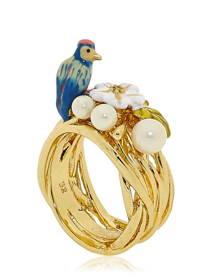 LES NÉRÉIDES - JARDIN D'AMOUR RING - LUISAVIAROMA - LUXURY SHOPPING WORLDWIDE SHIPPING - FLORENCE