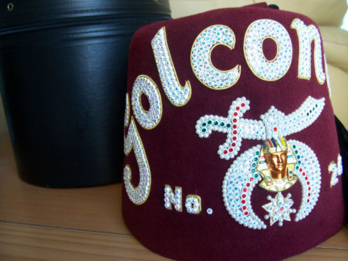 JEWELED MASONIC FEZ HAT - WITH STORAGE BOX - BOTH EXCELLENT CONDITION | eBay