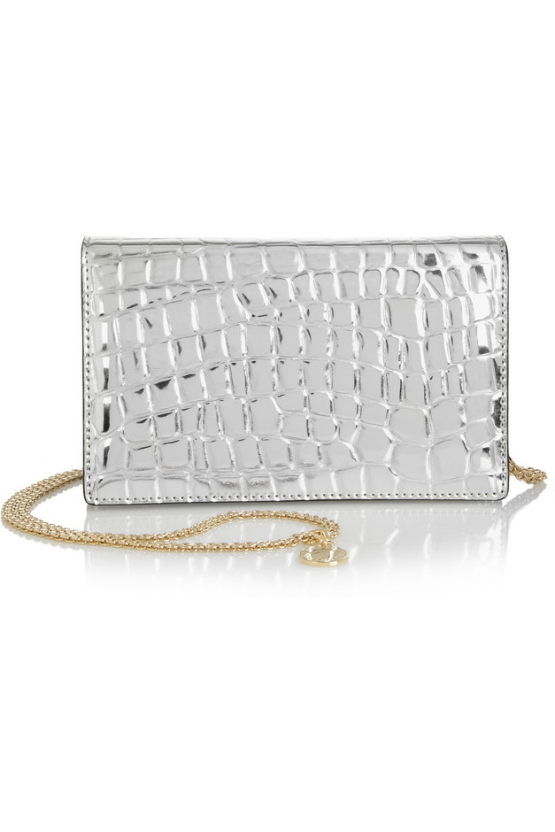 Stella McCartney | Grace metallic faux leather shoulder bag | NET-A-PORTER.COM