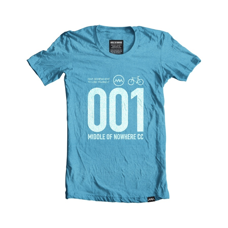 RECYCLED RACE NUMBER T-SHIRT / middleofnowhere