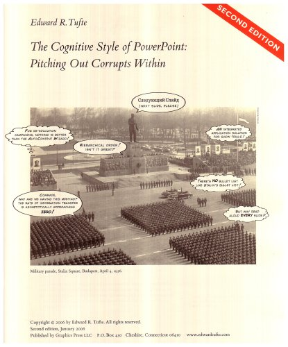 Amazon.co.jp: Cognitive Style of Powerpoint: Pitching Out Corrupts Within: Edward R. Tufte: 洋書
