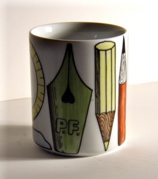 fornasetti writing instruments pencil holder