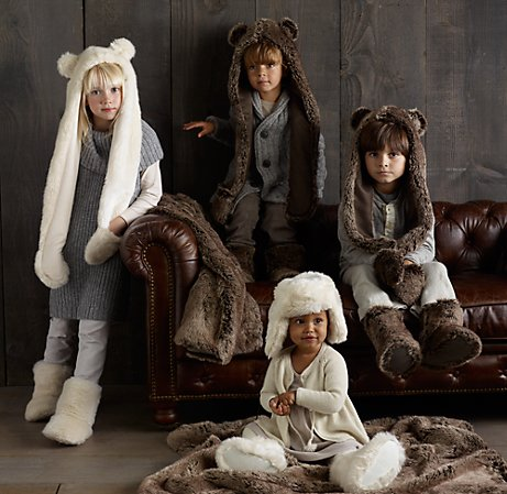 Luxe Faux Fur Animal Hood | Luxe Faux Fur | Restoration Hardware Baby & Child