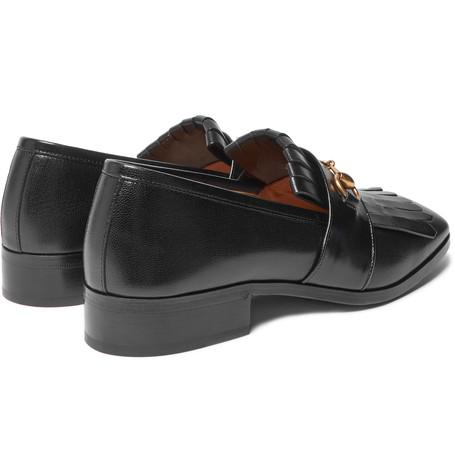 ff1043f6f Gucci : Gran Duca Horsebit Fringed Grained-Leather Loafers | Sumally ...