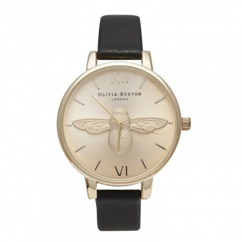 Olivia Burton Moulded Bee Black and Gold OB14AM36