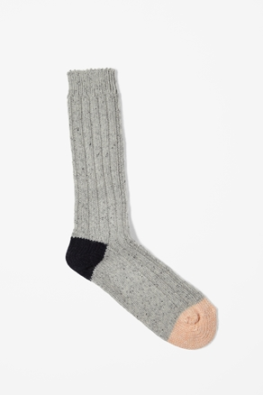 Chunky ribbed socks