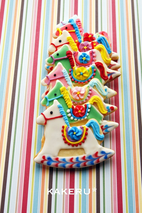 Colorful | Whimsical / rocking horse cookies | We Heart It